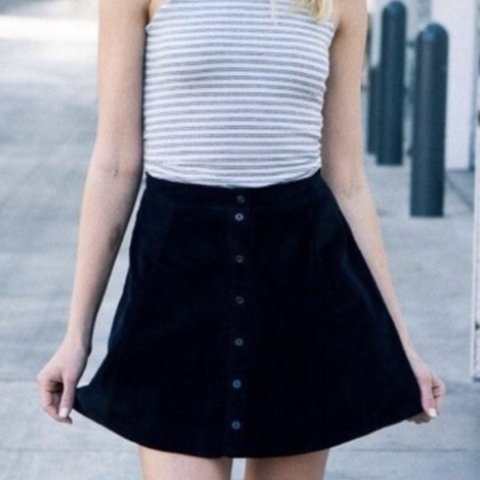 551361ccd9 @anna_dcliff. 11 days ago. London, United Kingdom. Brandy Melville black  corduroy skirt with buttons ...