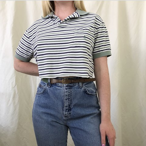 cfd6ce18284 @localparadise. in 4 hours. Henderson, United States. Vintage POLO RALPH  LAUREN striped top. Super cute cropped ...
