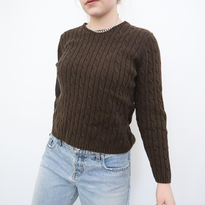 Product Image 1 - dark brown cable knit sweater the