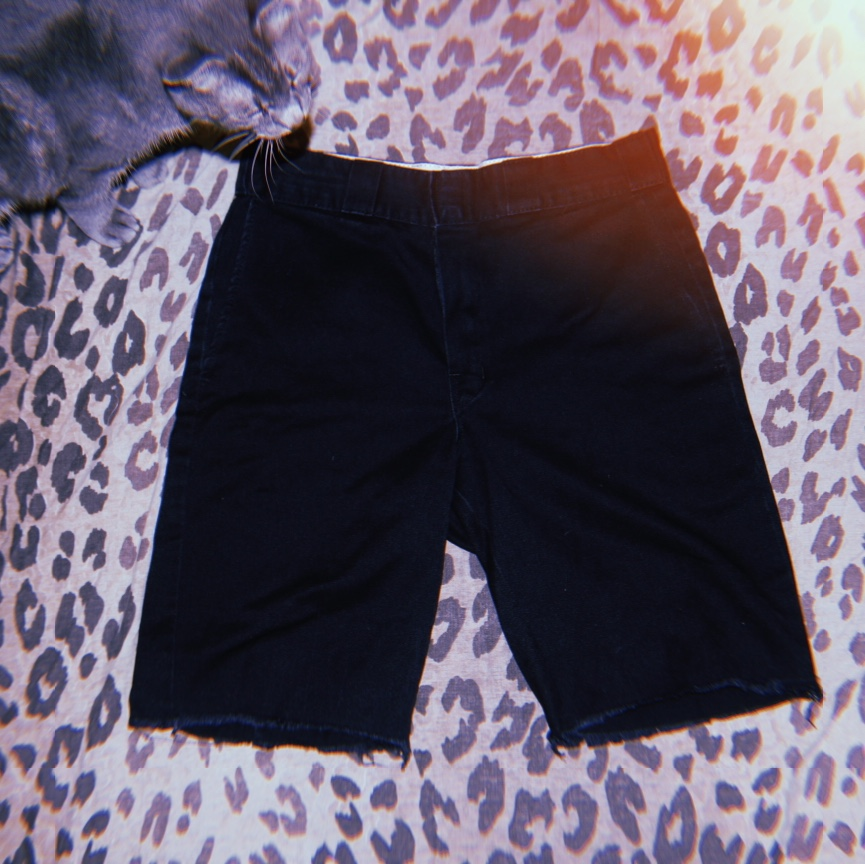 Product Image 1 - Black cutoff shorts made from