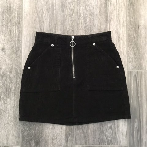 7e1f0e96af @elliejadeorme. in 20 hours. Grantham, United Kingdom. topshop black cord  denim skirt