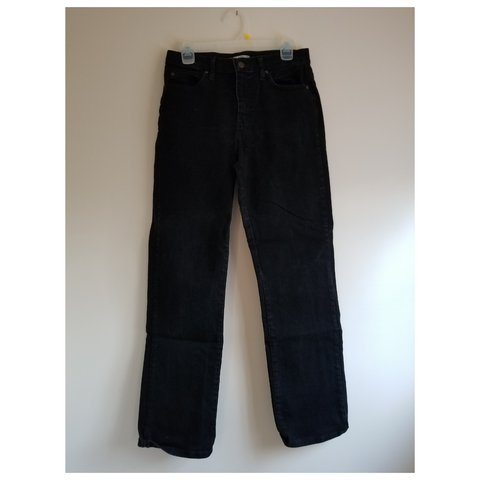 7945ebc8 Lee Relaxed Fit Straight Leg Black Jeans Size 6 Medium. Worn - Depop