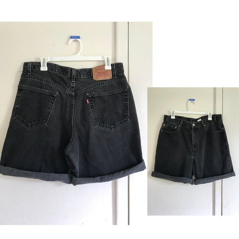 efd287c9695 Men's Levi 501 Relaxed fit black shorts. Looks cute rolled. - Depop