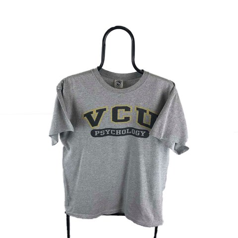 84d8f5d3a @arkidvintage. 5 hours ago. Liverpool, United Kingdom. Vintage VCU American Grey  Graphic T-shirt, a cool college ...