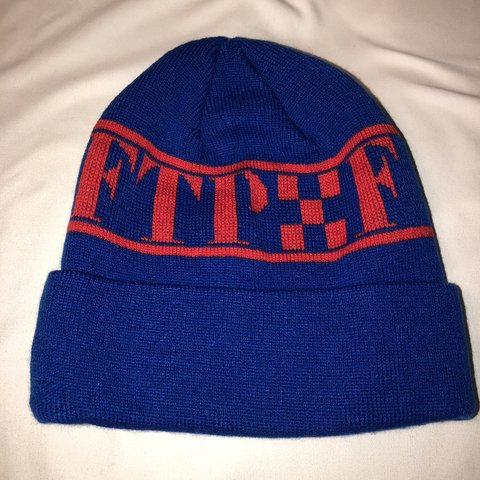 1da462bb RED AND BLUE CHECKERED FTP BEANIE one size fits pretty well - Depop