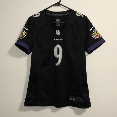 Nike Womens Baltimore Ravens Justin Tucker Black NFL Jersey Depop  for sale