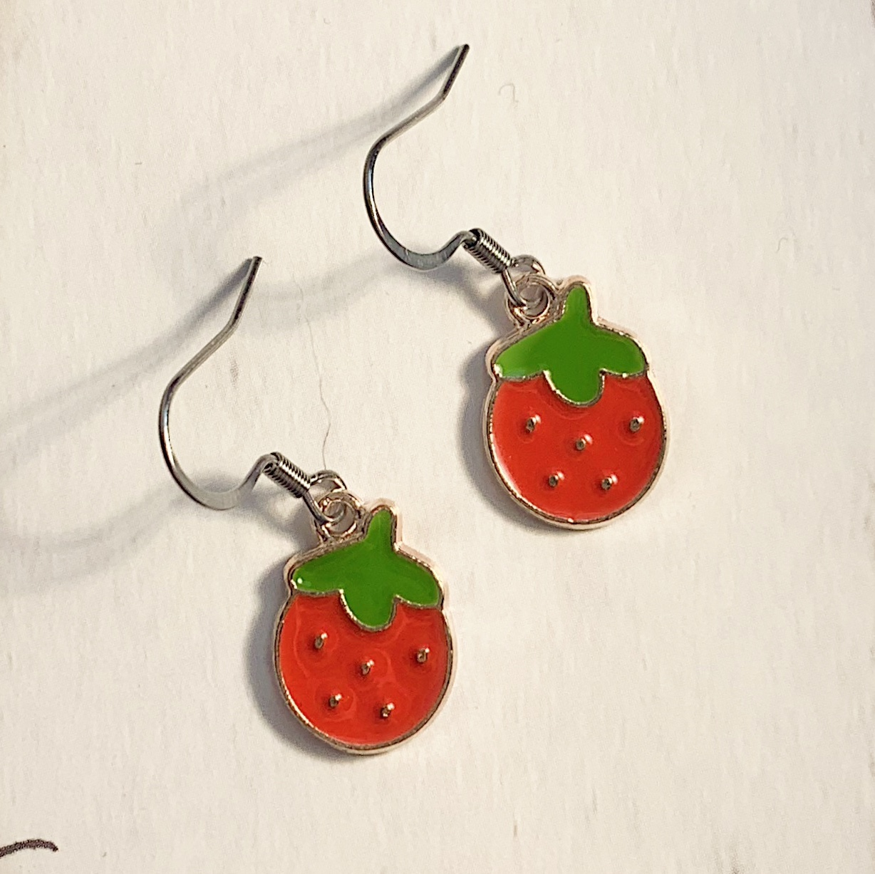 Product Image 1 - strawberry earrings!🍓🍓  earring hooks are stainless