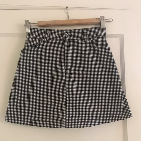 18cfc2b7c1c7 @lilybarclay. 12 days ago. Seattle, United States. Brandy Melville classic  black and white checkered skirt! One size ...