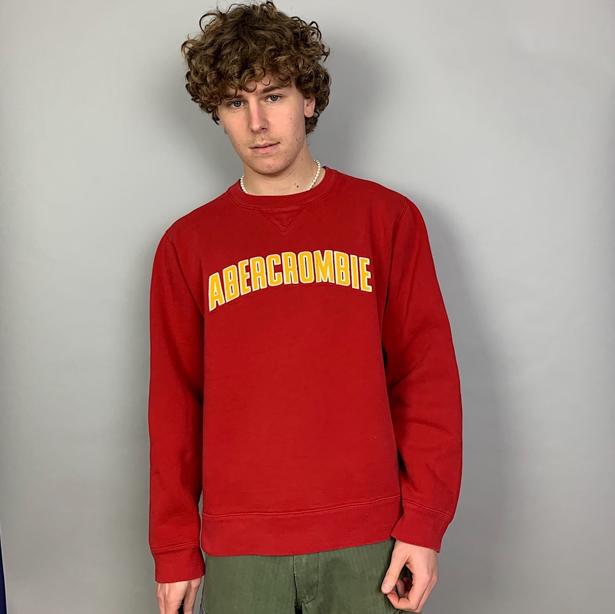 Product Image 1 - Abercrombie red crewneck size xl