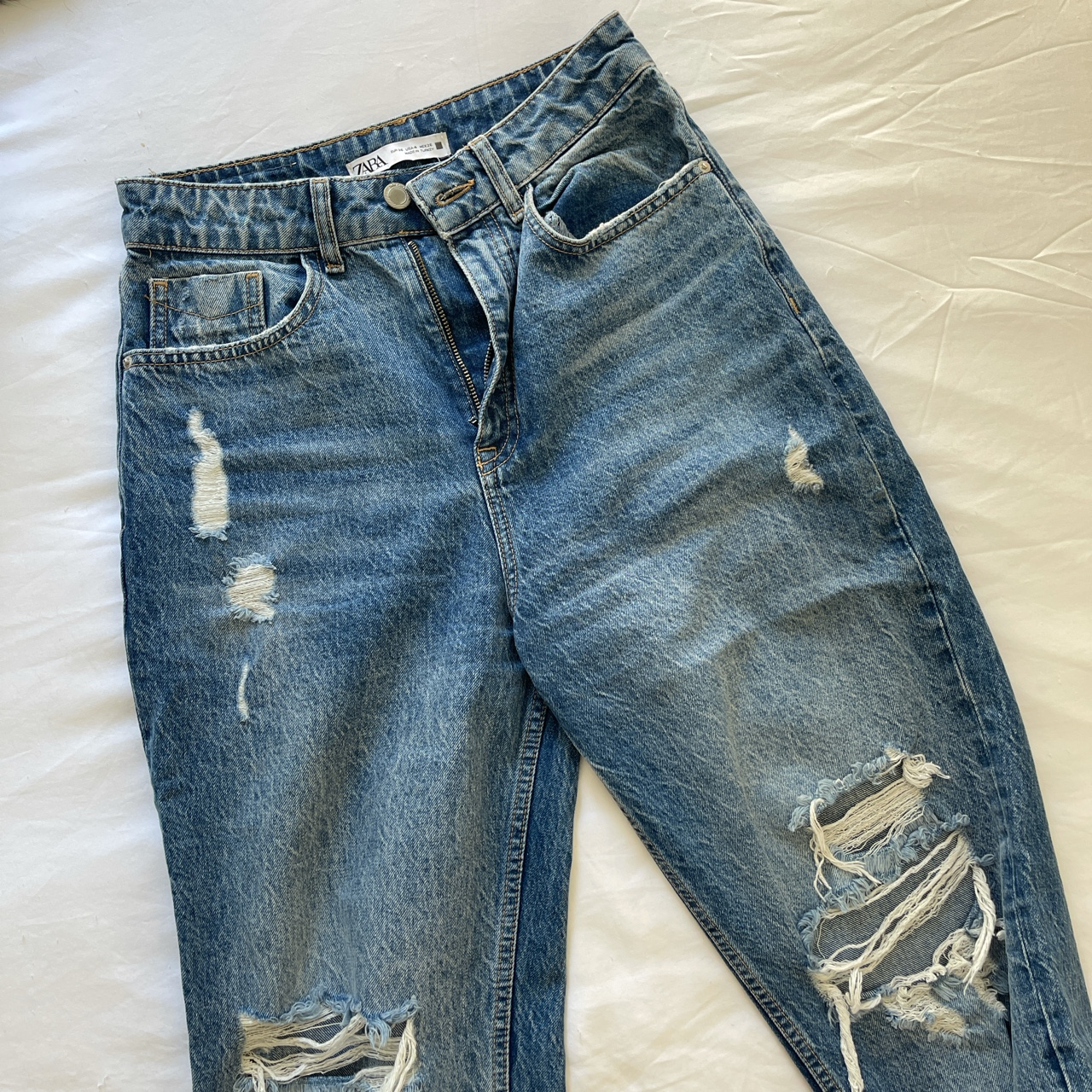 Product Image 1 - ZARA high-waisted ripped boyfriend jeans