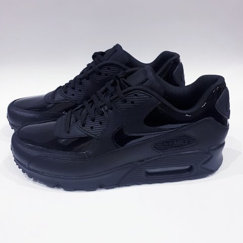 970697271a @trillkingcole. 5 hours ago. Huddersfield, GB. Triple Black Patent/Leather  Nike Wmns Air Max 90