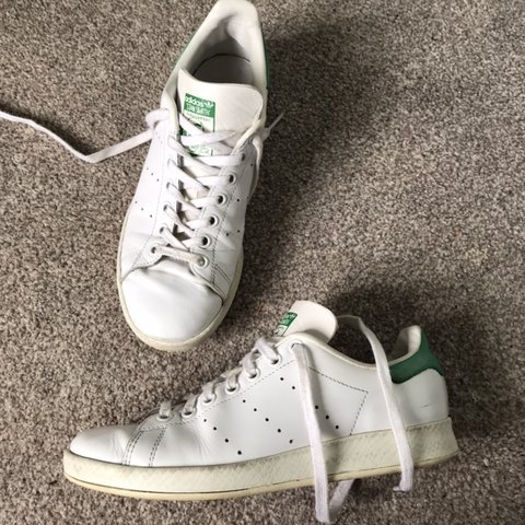 Adidas Stan Smith green trainers Size 5 Worn in Depop