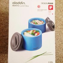 brand new never been used in box aladdin bento lunch box l storage keeps your food warm. Black Bedroom Furniture Sets. Home Design Ideas