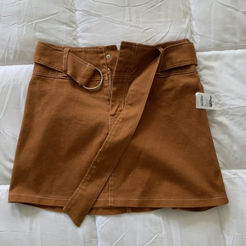 63490a1718 @annecloset. last month. Orlando, United States. New never worn mustard  brown skirt from Charlotte Russe