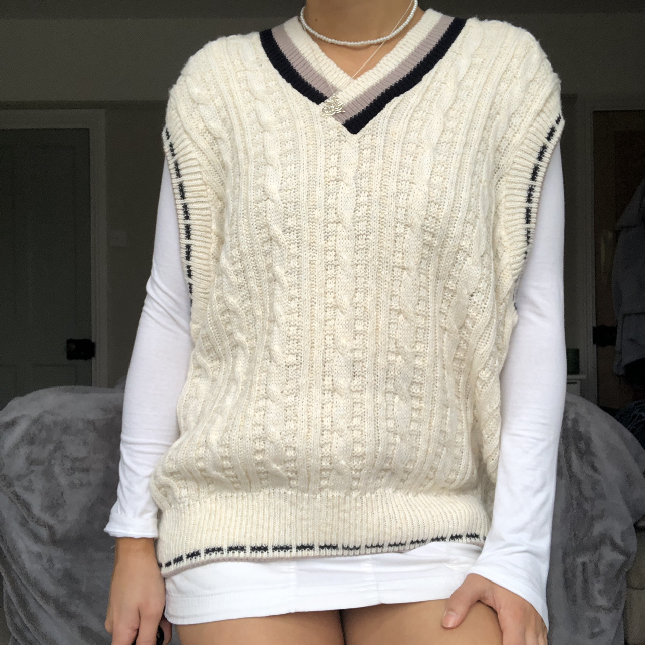 Product Image 1 - cable knit sweater vest /