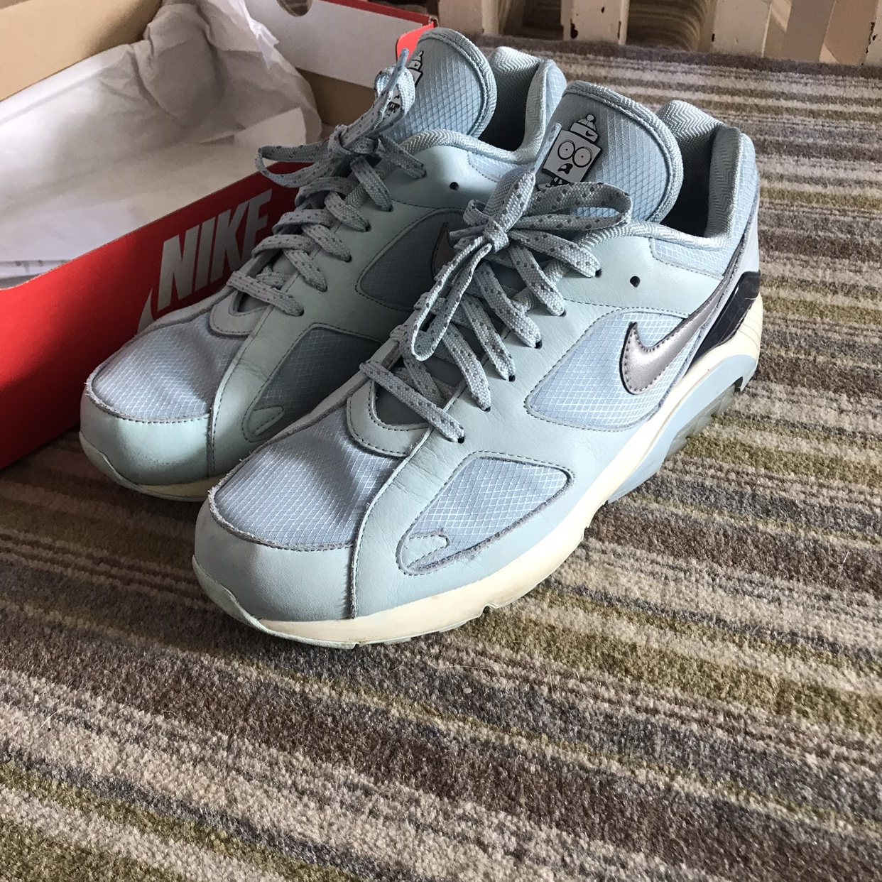 Nike air max 180 ice Size 10.5 9/10 condition,... - Depop