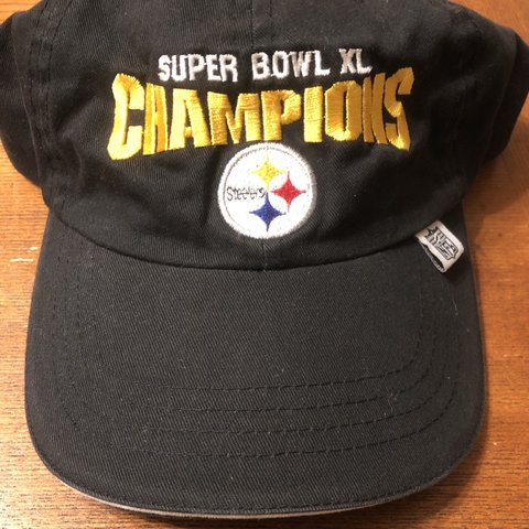 fb1a0f53790ffa @triad__thrift. 2 months ago. Greensboro, United States. Pittsburgh Steelers  6X Six Time Super Bowl Champions Strap Back Hat ...