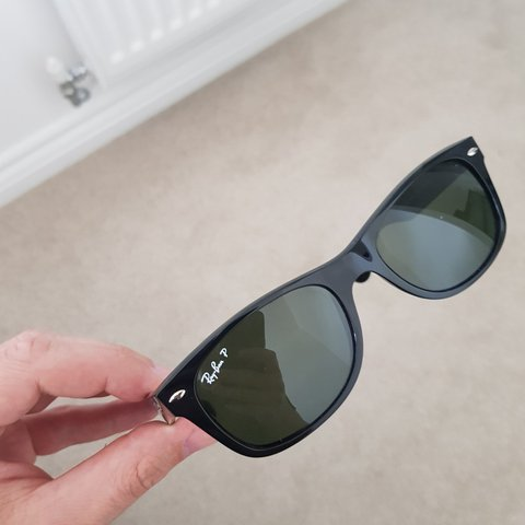 3fec8fe7b Ray-Ban 'New Wayfarer Classic' Polarized sunglasses. Bought - Depop