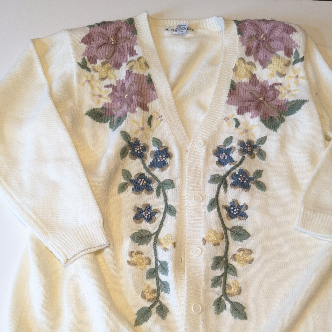 Product Image 1 - Vintage 90s White cardigan with