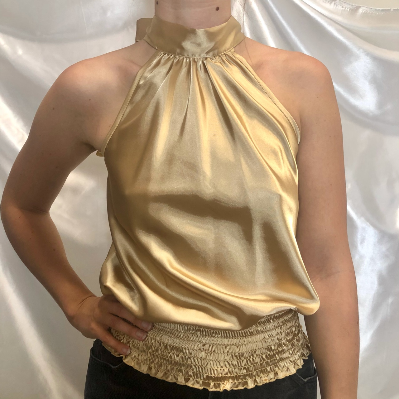 Product Image 1 - Y2K Silky Soft Gold Halter