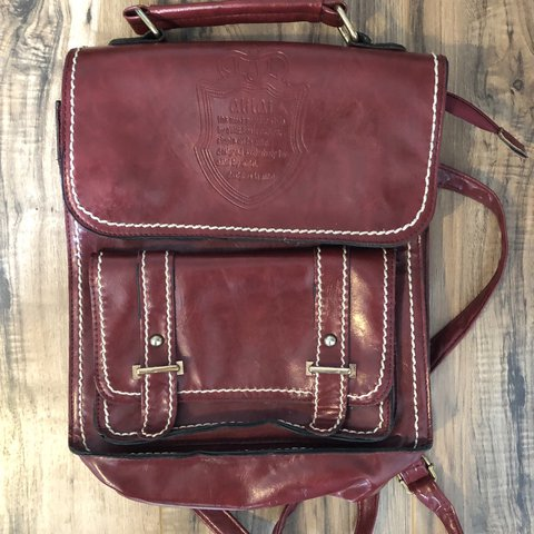 63e38857b @bdollzzzz. 6 days ago. Portland, United States. Vintage Red Leather  Backpack Purse