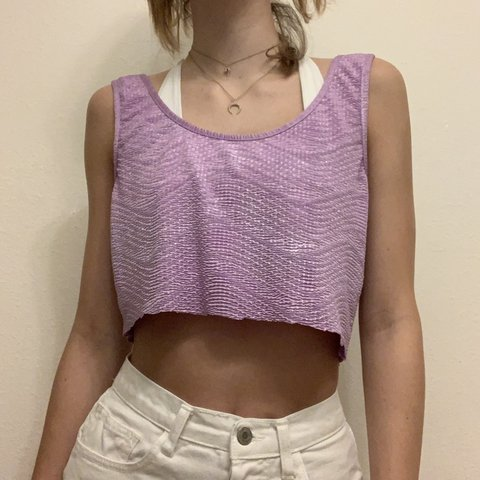 9ec14c535b @calllieann. 4 hours ago. Tampa, United States. Purple Metallic Cropped  Tank top. Vintage Forever21 ...