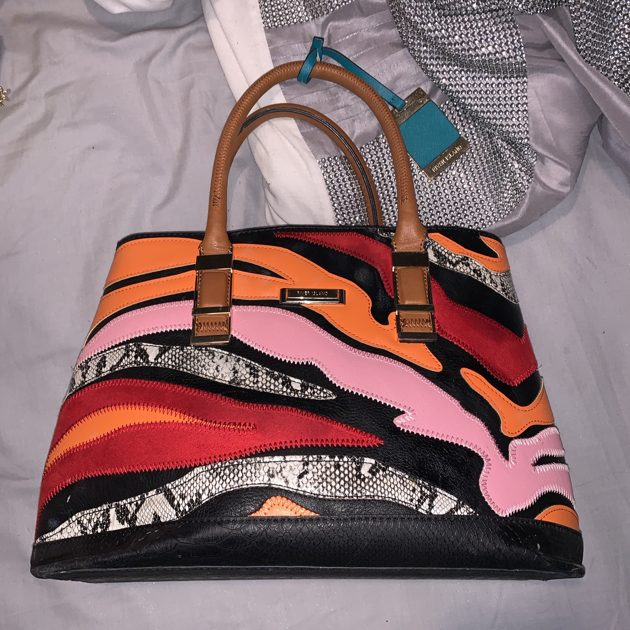 Product Image 1 - River island bag 8/10 condition Few makeup