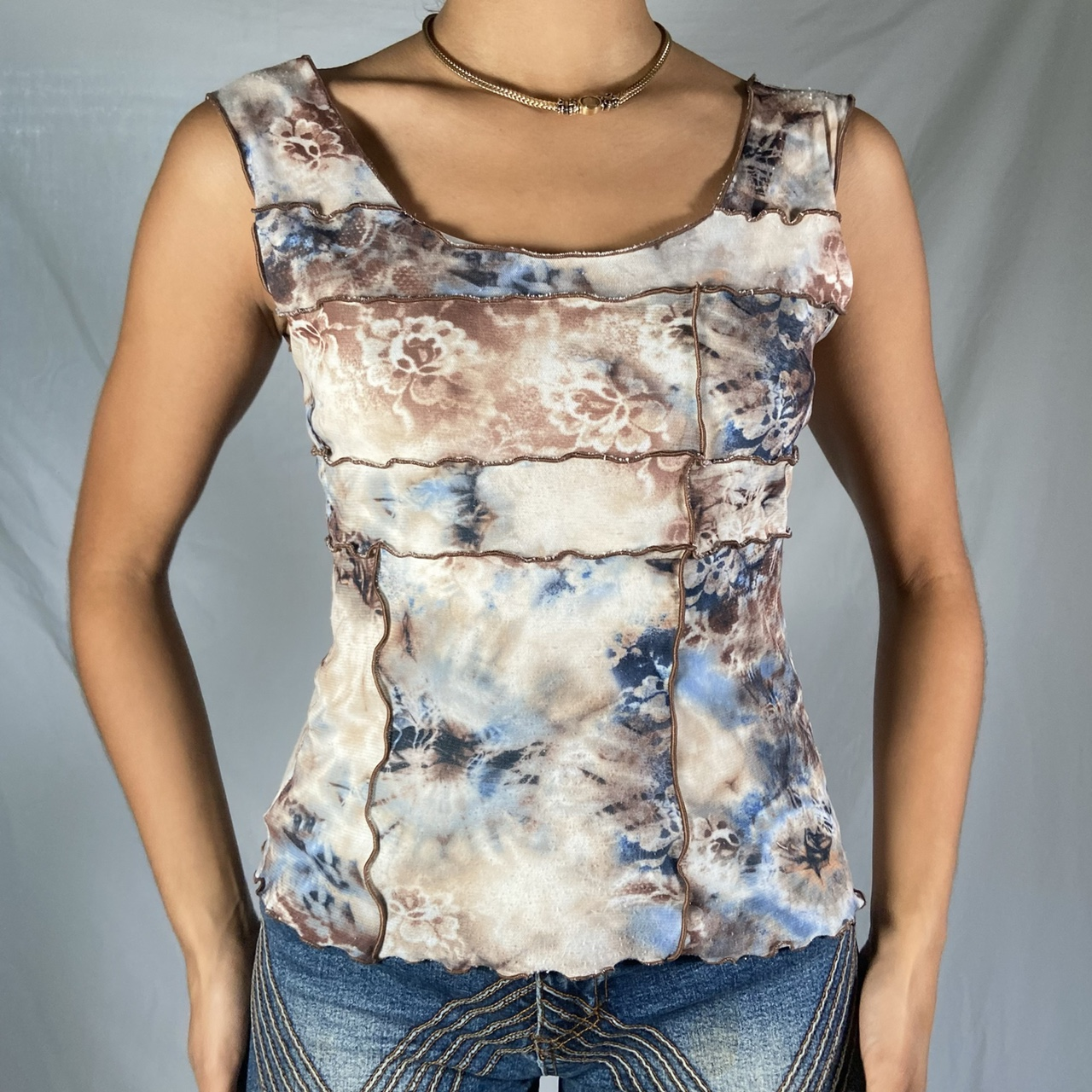 Product Image 1 - Brown and Blue cami   Early