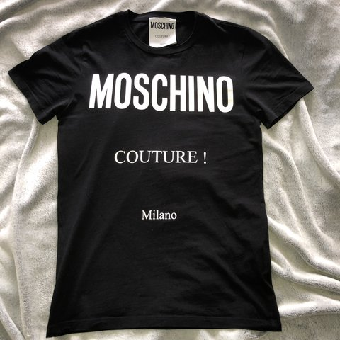 7e90319ec77537 @lucywitterx. last month. Wigan, United Kingdom. Men's Moschino Milano  tshirt worn once
