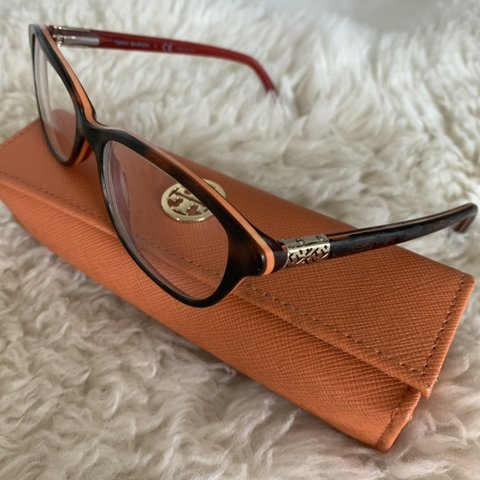 09786a03eaeb Tory Burch tortoise shell clear glasses👓🧡 super cute, with - Depop
