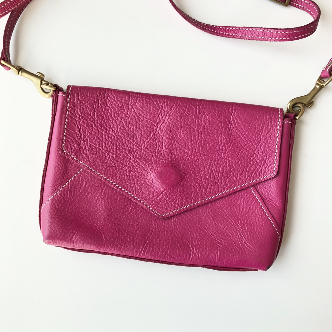 Product Image 1 - magenta leather cross body purse