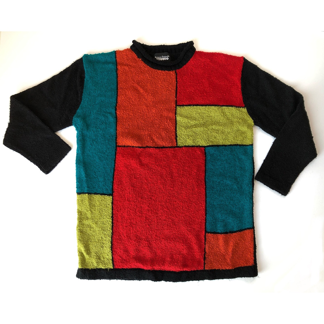 Product Image 1 - Colorblock Mondrian sweater. Tagged small.