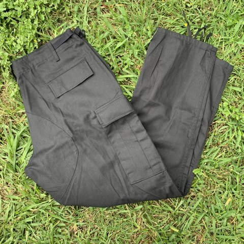 bd93deaa06b95 New without tags black military cargo pants. Super clean. 35 - Depop