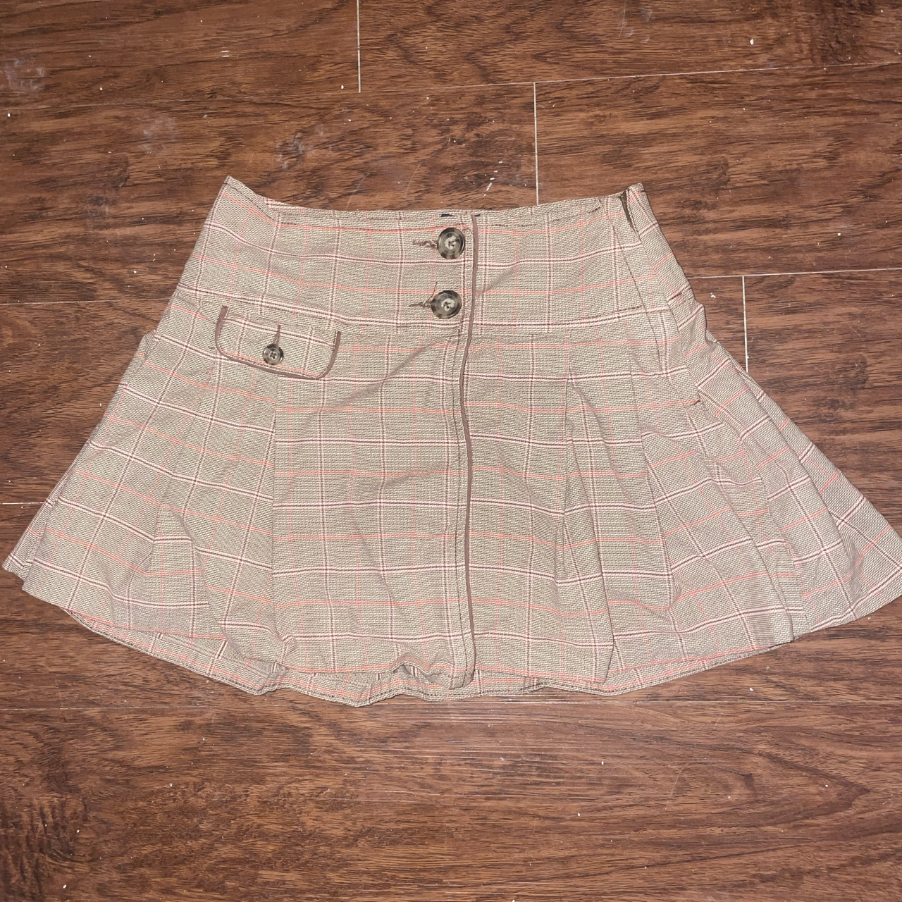 Product Image 1 - gap brown and pink pleated