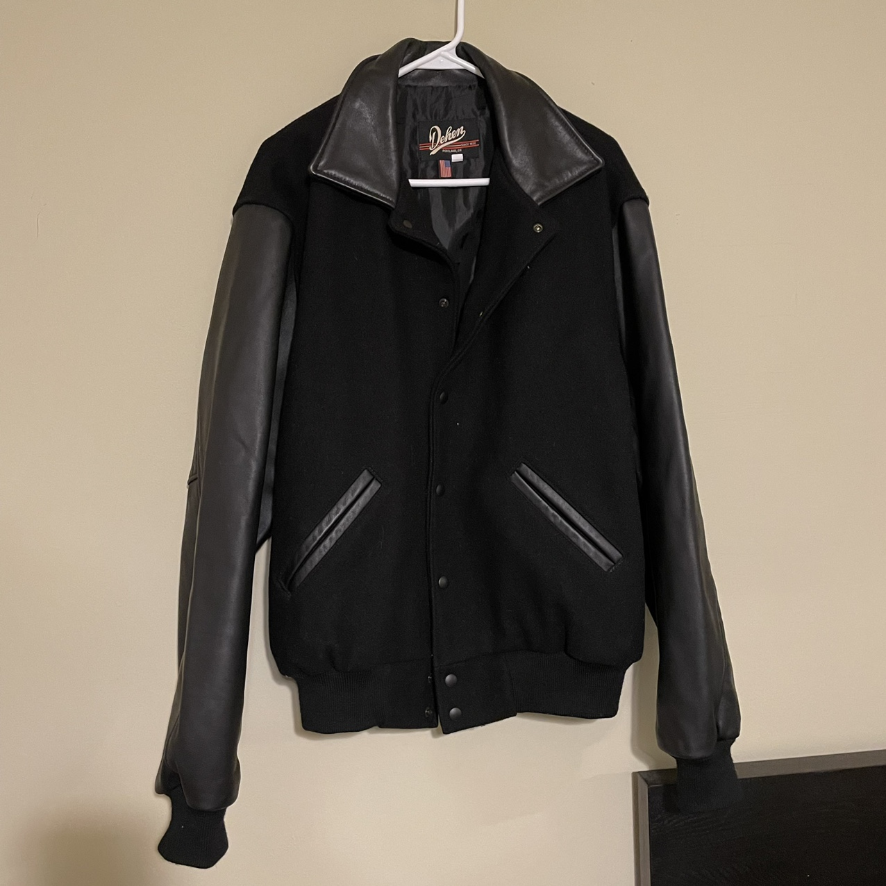 Product Image 1 - Mens Vintage Wool and Leather
