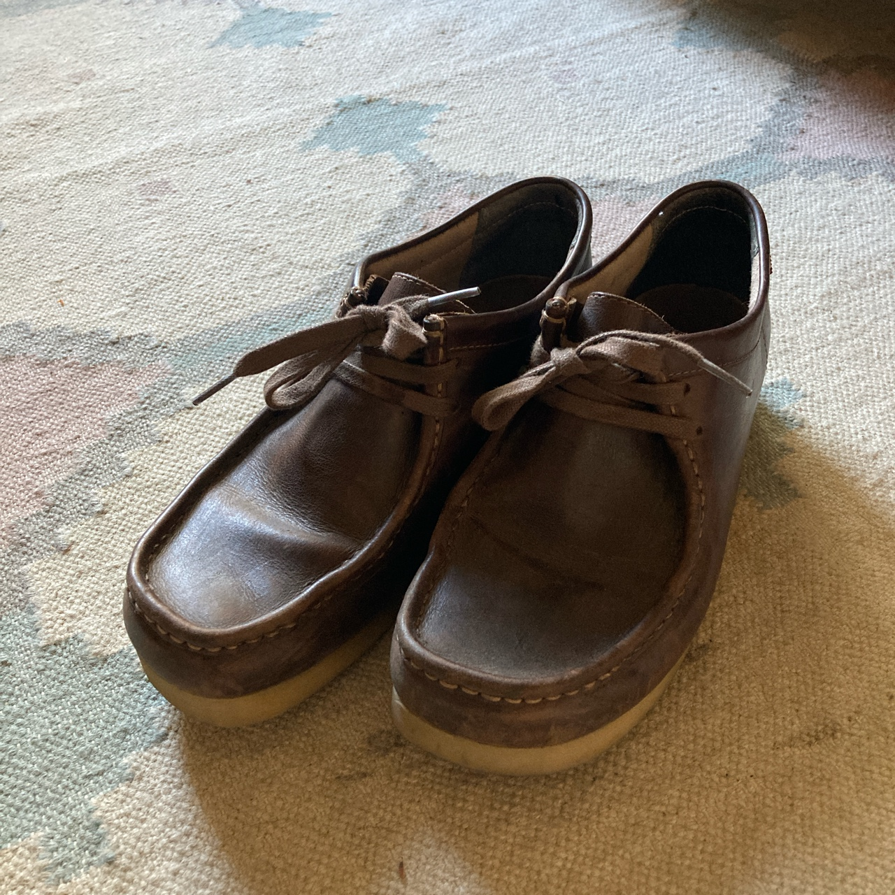 Product Image 1 - Clarks Wallabees in Brown/Beeswax Like new!