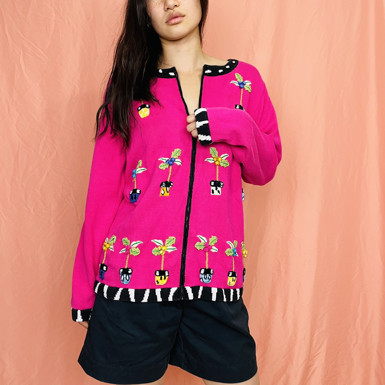 Product Image 1 - Vintage 90s hot pink embroidered