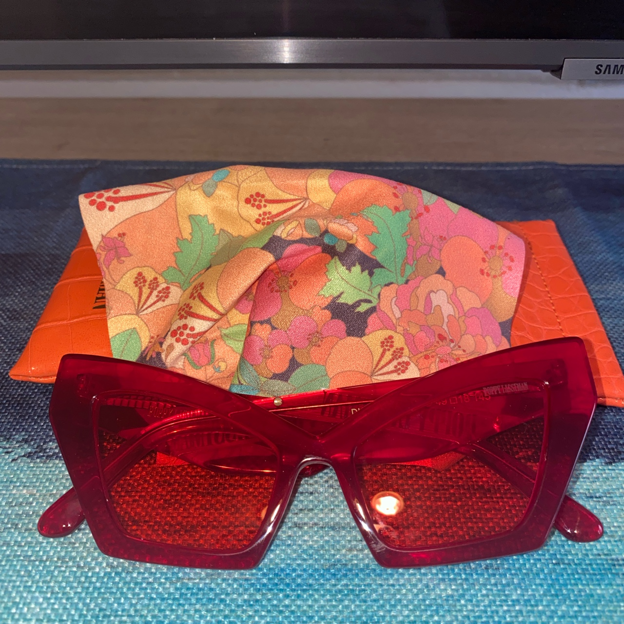 Product Image 1 - Poppy Lissiman Red sunglasses, worn