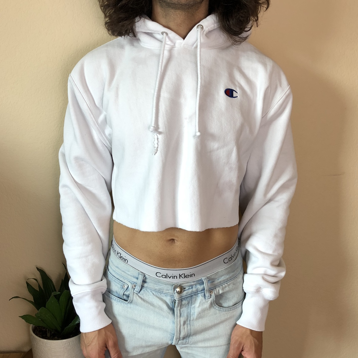 Product Image 1 - Champion cropped pullover hoodie. Reverse