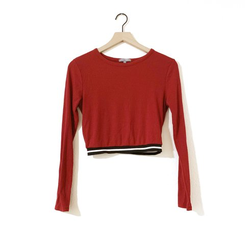 70a016512c2 @enijazzerbunny. in 2 hours. Cape Coral, United States. Red long sleeve  crop top ...