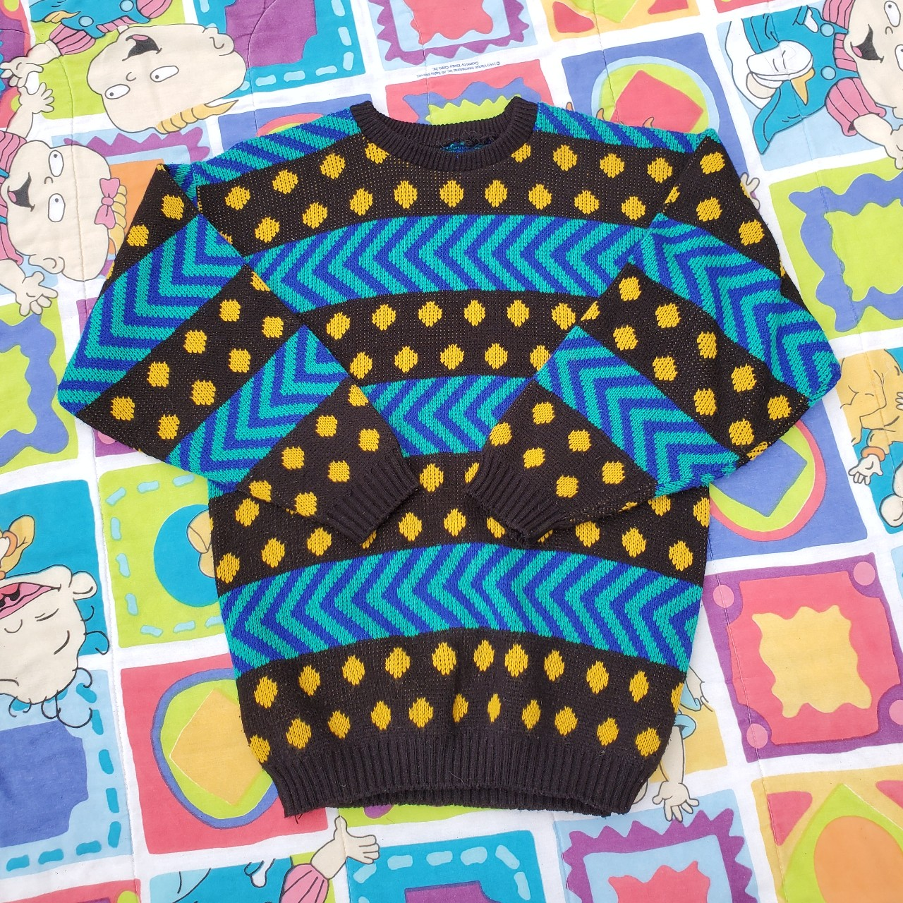 Product Image 1 - 💙💛🖤 80s vintage lightweight knit