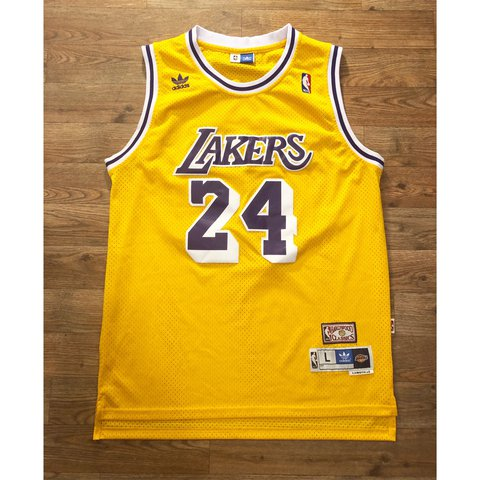 38ef7637748 @hatswithasnap. in 6 hours. Tempe, United States. NBA LOS ANGELES LAKERS  ADIDAS KOBE BRYANT JERSEY. IN EXCELLENT CONDITION, JERSEY IS A MENS SIZE  Large.