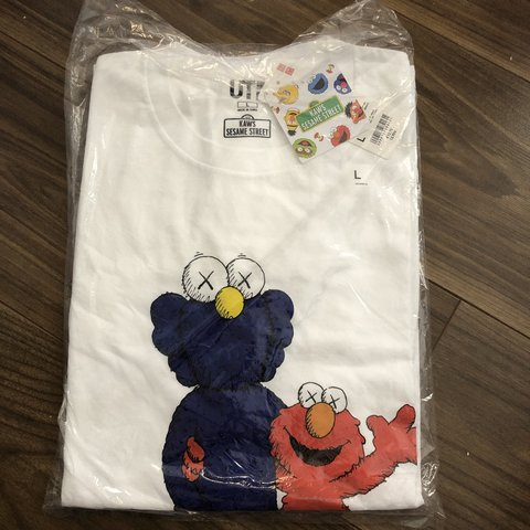 dcd812610 @londonhypefits. 3 days ago. London, United Kingdom. Sold out. Kaws X  Sesame Street BFF Elmo tee. White Size Large