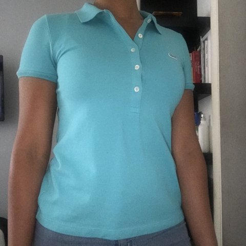 a8499a636 🐊TEAL BLUE LACOSTE POLO🐊 LOOKS CUTE AND IN BRAND NEW if u - Depop