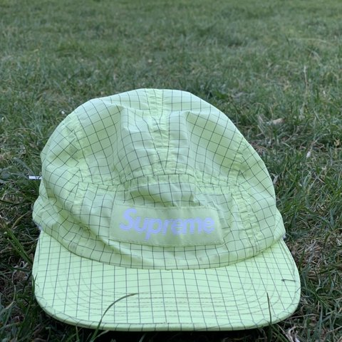 11d6b066 Supreme contrast ripstop camp hat Pale green Only one on no - Depop