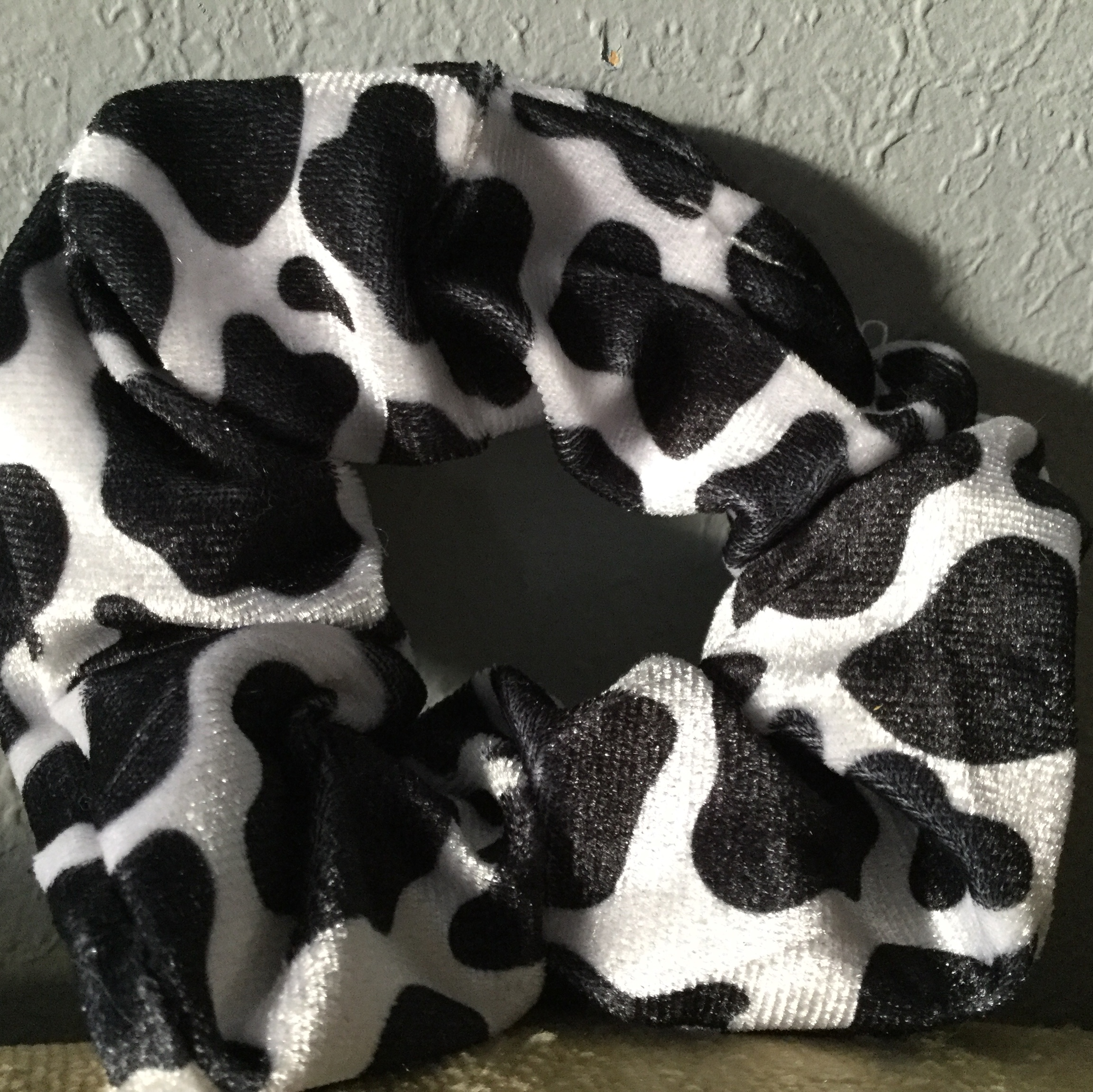 Product Image 1 - Velvet cowprint scrunchie  Free with