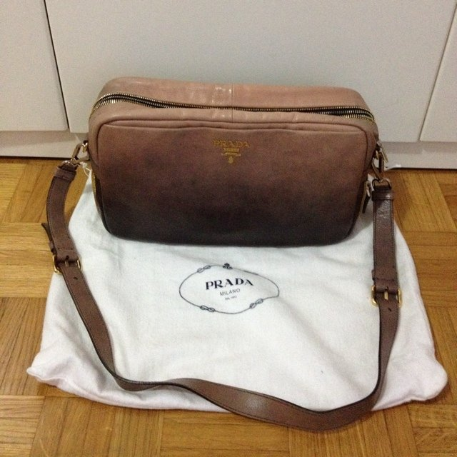 Borsa prada vintage prada leather handbag for Zalando borse prada