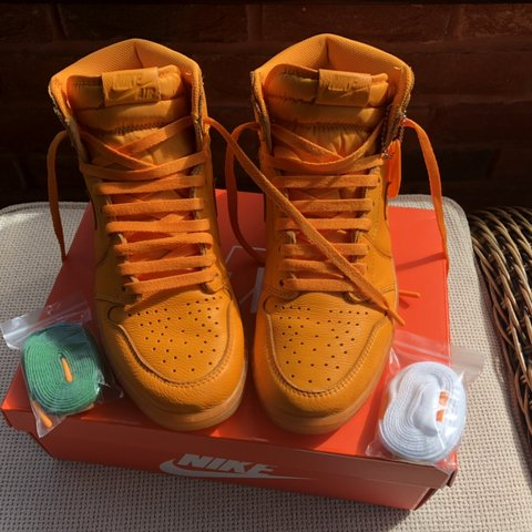 3f5389df5b5 @jamesingman. 9 hours ago. Chesterfield, United Kingdom. Nike air Jordan 1  x Gatorade orange peel 100% authentic