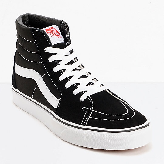 ☁️vans sk8 hi shoes in black with thin laces ! ☁️also... - Depop
