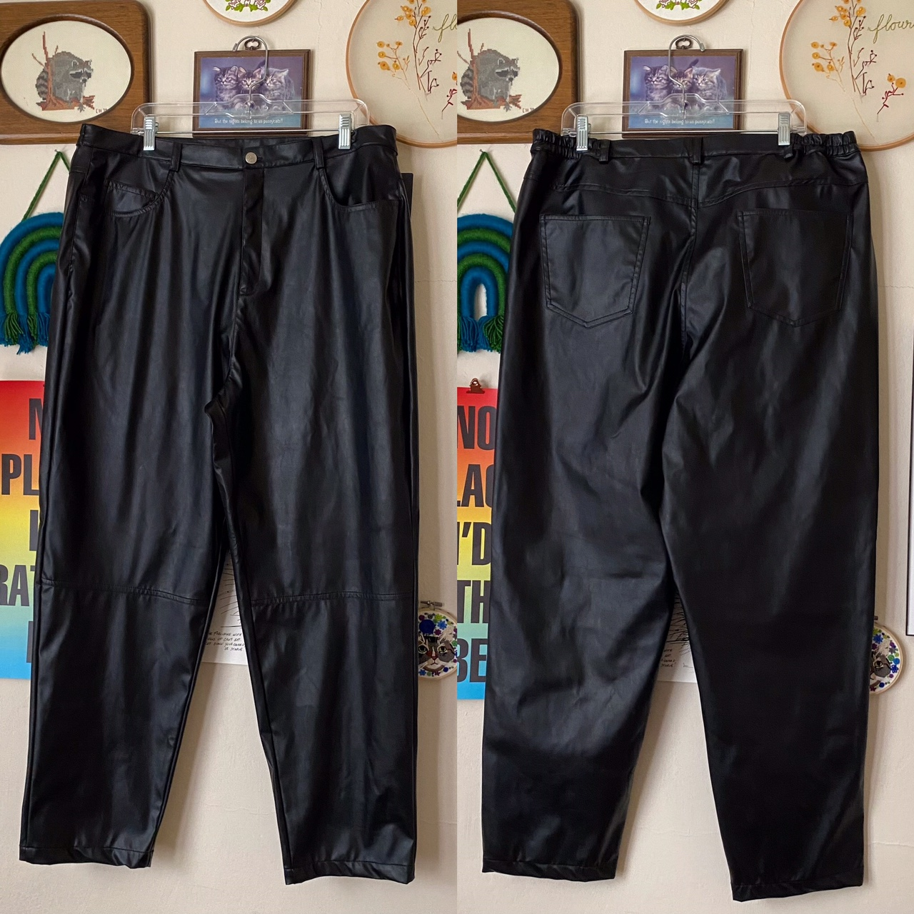 Product Image 1 - Vintage 90s faux leather highwaisted